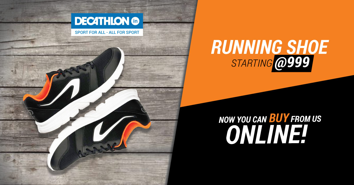 Decathlon - Decathlon: Running Shoe Starting @999 + Extra 2.5% Cashback