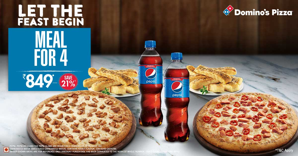 Dominos - Dominos: Save upto 40% off on Everyday value packs